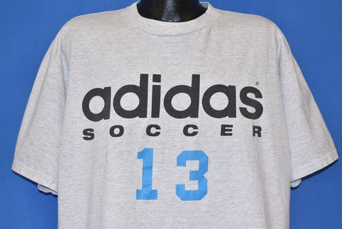 90s Adidas Soccer 13 Heathered Gray t-shirt Extra Large