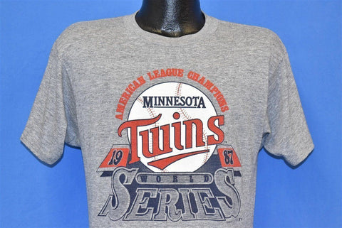 80s Minnesota Twins 1987 World Series AL Champs t-shirt Medium