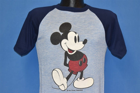 80s Mickey Mouse Walt Disney Blue Jersey t-shirt Small
