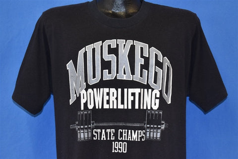 90s Muskego Powerlifting State Champs 1990 t-shirt Large