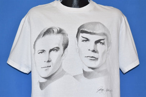 90s Star Trek The Original Series Kirk Spock t-shirt Large