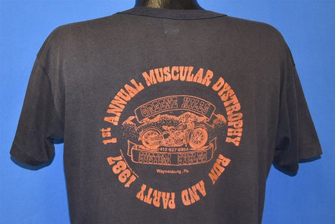 80s Greene Hills Custom Cycles MDRun Distressed t-shirt Large