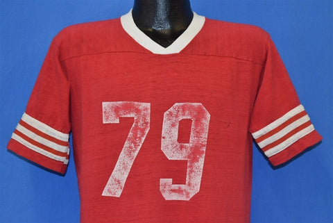 70s Red White Three Stripe Jersey 1979 Jersey t-shirt Large