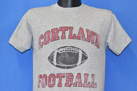 80s Cortland Red Dragons SUNY Football College t-shirt Medium