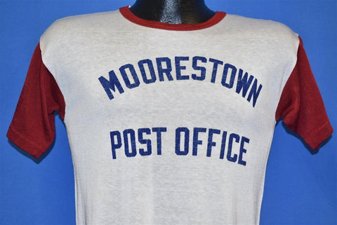 50s Moorestown NJ Post Office White Red Jersey Nylon t-shirt