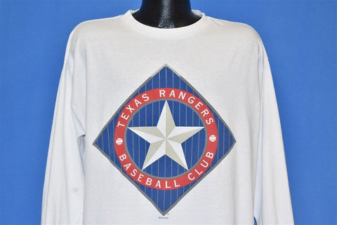 90s Texas Rangers Long Sleeve Baseball t-shirt Extra Large