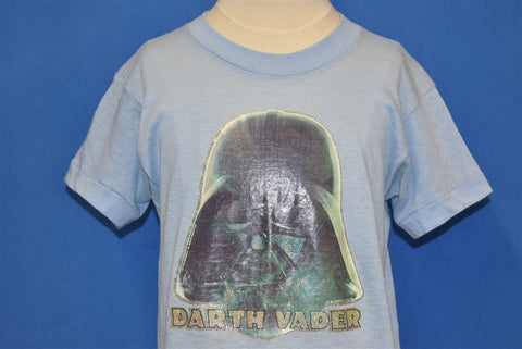 80s Darth Vader Star Wars Glitter Iron On t-shirt Youth Large