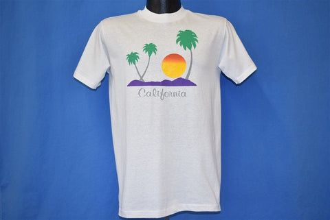 80s California Sunset Palm Trees Mountains t-shirt Medium