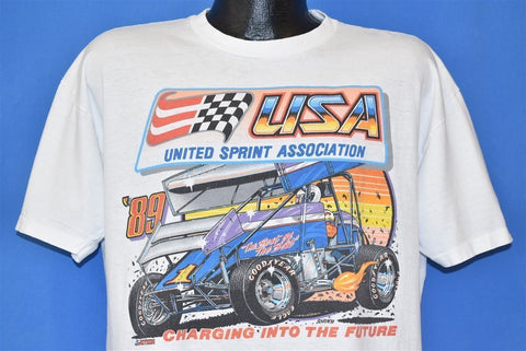 80s USA United Sprint Association 89 Distressed t-shirt Large