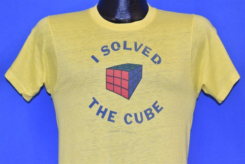 80s I Solved the Cube Rubik's Cube Funny Yellow t-shirt Small