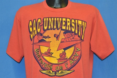 80s SAC University De I'ACVV Pilot School t-shirt Large