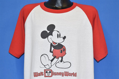 80s Mickey Mouse Walt Disney Raglan t-shirt Extra Large