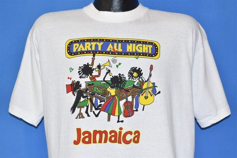 90s Party All Night Jamaica Band Music Funny t-shirt Large
