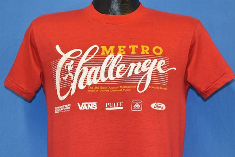 80s Metro Challenge 1983 Sixth Annual Run t-shirt Medium