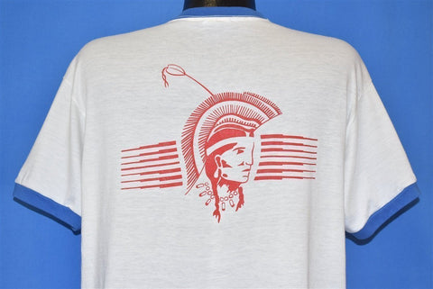 80s Camp Phillips Native American Ringer t-shirt Extra Large