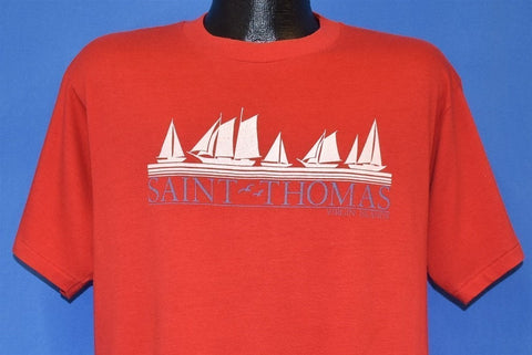 80s Saint Thomas Virgin Islands Sailboats t-shirt Large