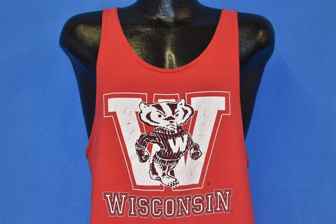 80s Wisconsin Badgers University Tank College t-shirt Large