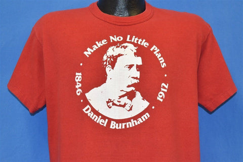 70s Daniel Burnham Make No Little Plans Quote t-shirt Large