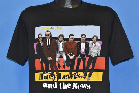 90s Huey Lewis and the New Hard At Play Band t-shirt Large