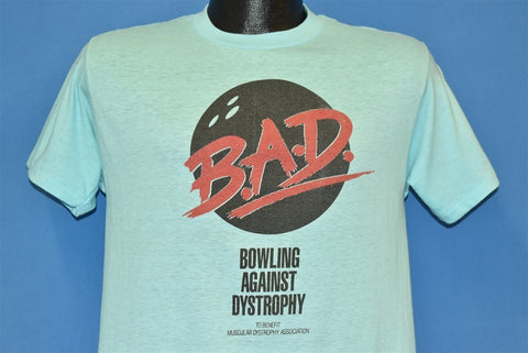 80s Bowling Against Muscular Dystrophy BAD MS t-shirt Medium