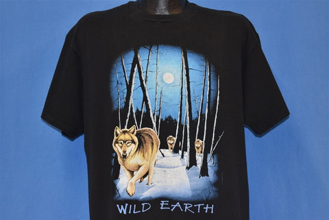 90s Wild Earth Wolves Wolf Pack Animal t-shirt Extra Large