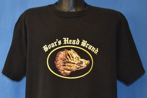 80s Boar's Head Brand Logo Deli Meat Pig t-shirt Extra Large