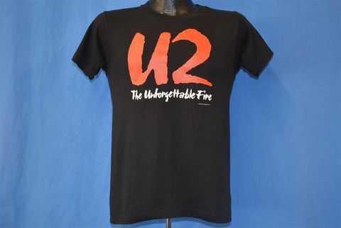 80s U2 The Unforgettable Fire Album 1984 Band t-shirt Small