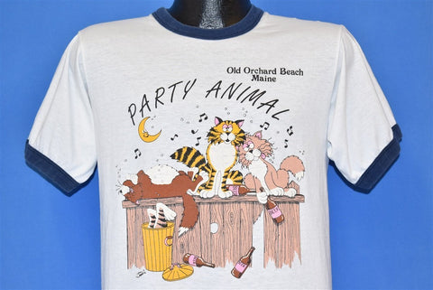 80s Party Animal Old Orchard Beach Maine Cat t-shirt Medium