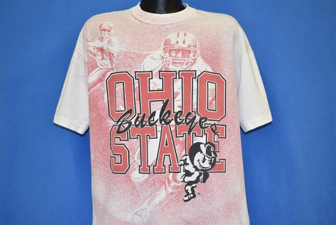 90s Ohio State Buckeyes All Over Brutus t-shirt Extra Large