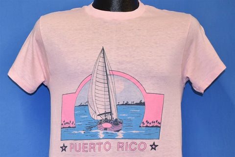 80s Puerto Rico Sailboat Sunset Ocean Sailing t-shirt Small