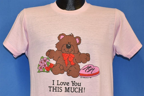 80s I Love You This Much Teddy Bear Mom t-shirt Medium