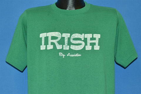 80s Irish Association Notre Dame Fighting Funny t-shirt Large