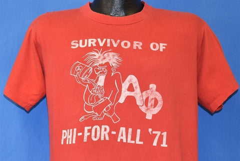 70s Survivor Phi for All '71 ΑΦ Alpha Phi Funny t-shirt Large