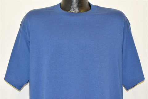 90s Blank Blue Jerzees Basic t-shirt Extra Large