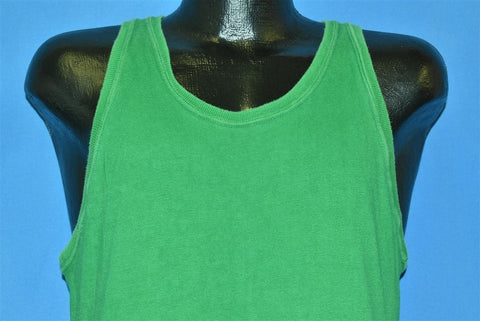 50s Blank Green Yellow Tank Top Reversible t-shirt Medium