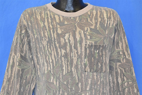 90s Real Tree Camouflage Pocket Hunting t-shirt Medium