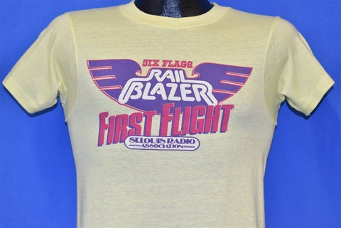 80s Six Flags Rail Blazer First Flight Radio KUSA t-shirt Small