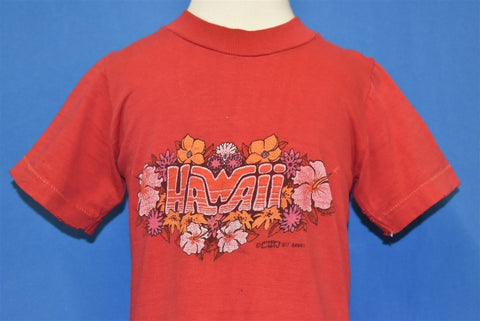 70s Hawaii Crazy Shirts Hibiscus Flower t-shirt Youth Small