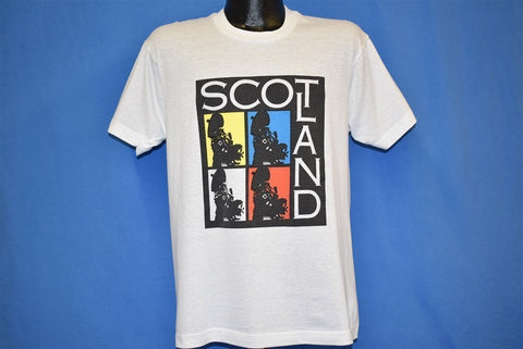 80s Scotland Great Highland Bagpipes Pop Art  t-shirt Large