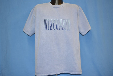 90s Wisconsin Embroidered t-shirt Extra Large