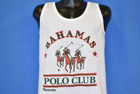 80s Bahamas Polo Club Tank Top t-shirt Medium