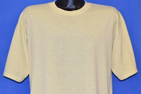 80s Blank Yellow t-shirt Extra Large