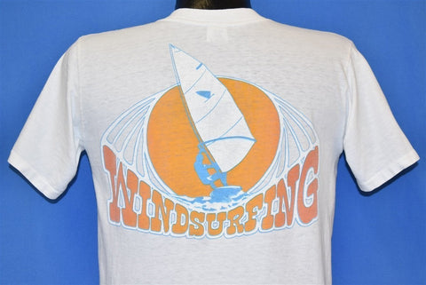 70s Windsurfing Pocket Tee Surfer Beach t-shirt Medium