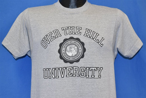 80s Over the Hill University Funny College Joke t-shirt Small