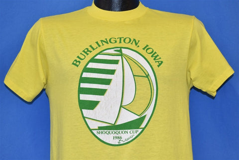 80s Shoquoquon Cup 1986 Sailing Burling Iowa t-shirt Medium