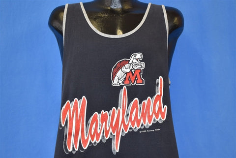 90s Maryland Terrapins University Tank t-shirt Large