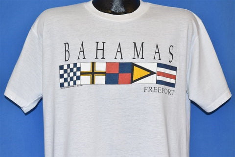 90s Freeport Bahamas Nautical Flag Tourist t-shirt Large