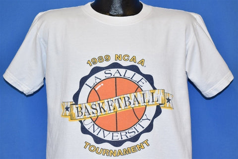 80s La Salle Explorers 1989 NCAA Basketball t-shirt Large