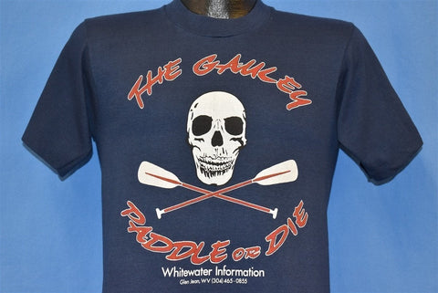 90s Gauley Whitewater Rafting Paddle or Die t-shirt Small