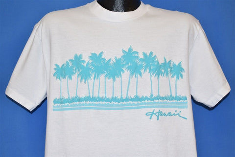 80s Hawaii Palm Tree Beach Island Ocean t-shirt Large